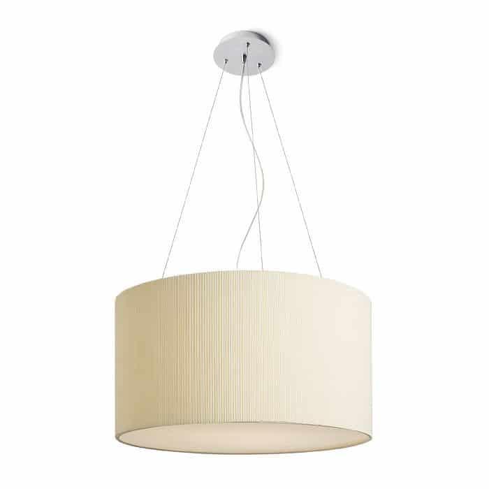 Lampa wisząca LALO 40 kremowo biała nikiel mat 230V E27