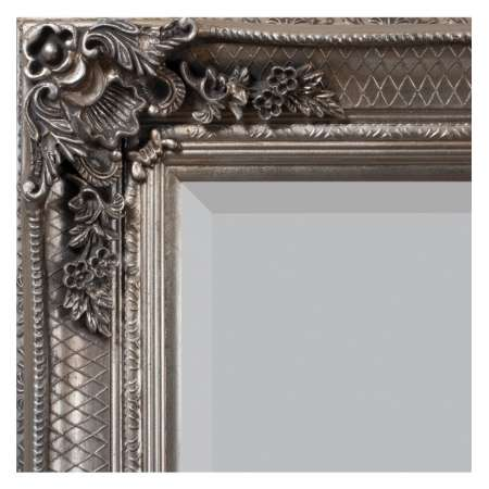 Lustro Abbey Leaner  Silver 1650x795mm 5055299403204 - Gallery Direct